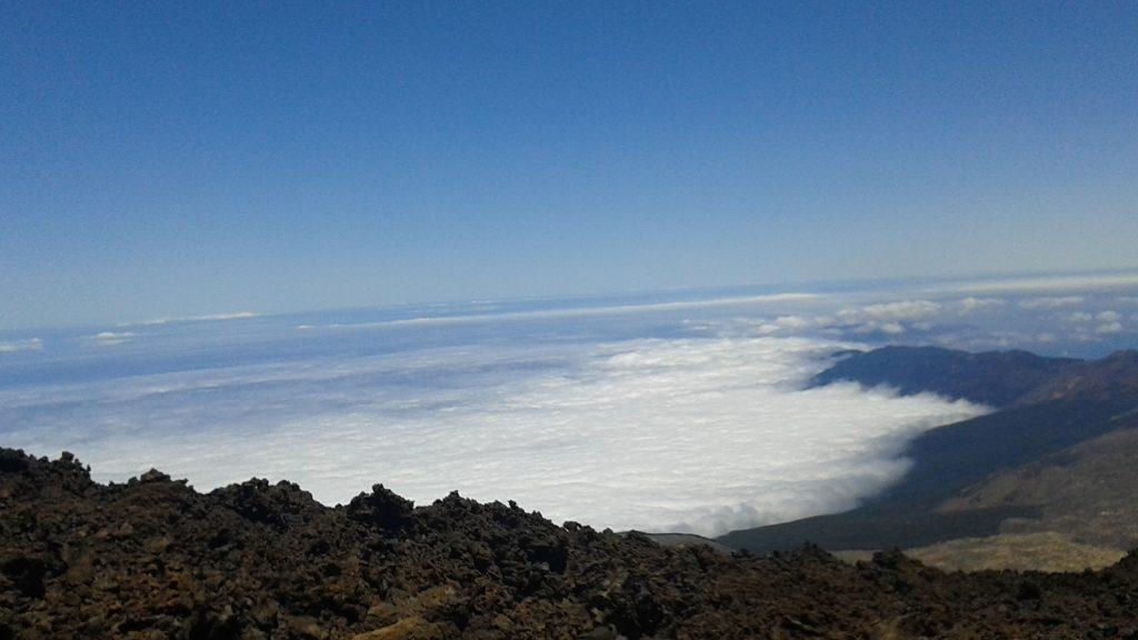 Tenerife vulcanul Teide priveliste din varf