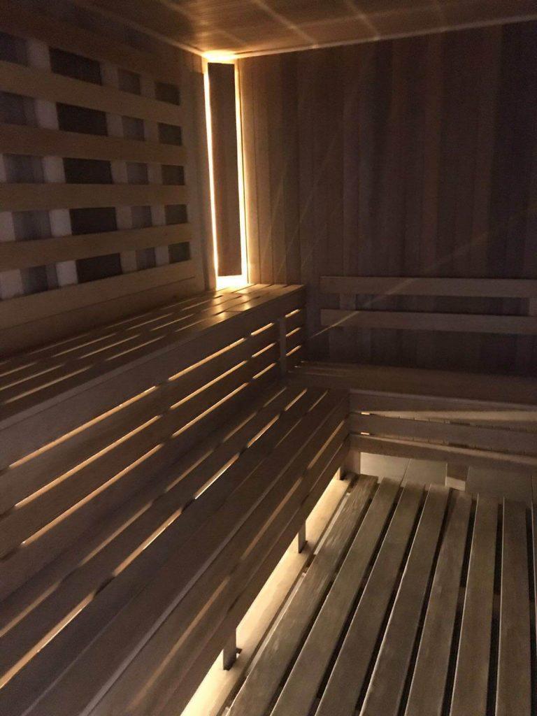 Balvanyos spa sauna interioara