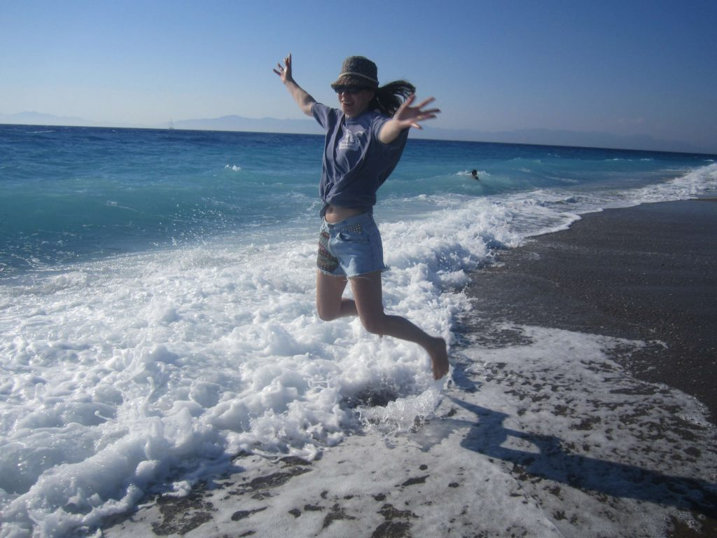 Rhodos-beach-jumping