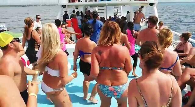 Insula Catalina-catamaran-dans cu turistii