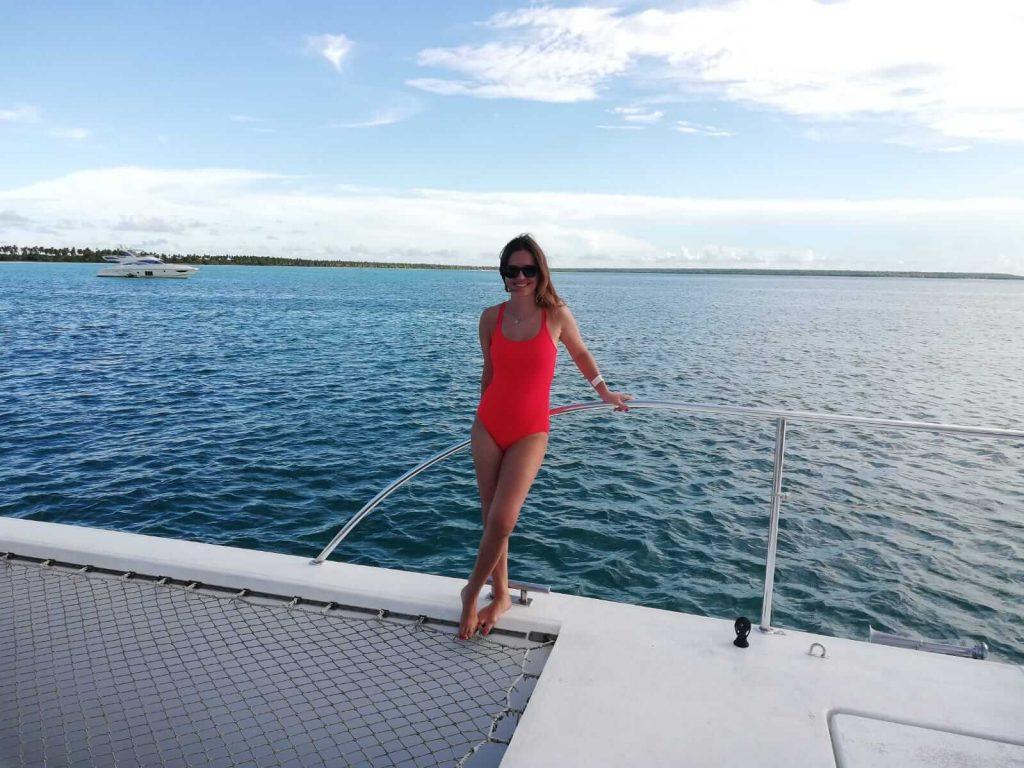 Insula Saona-intoarcere catamaran