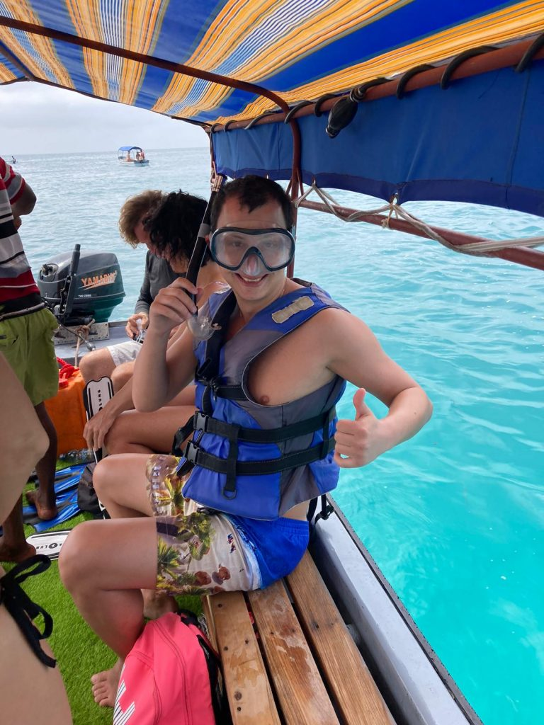 safari blue snorkeling