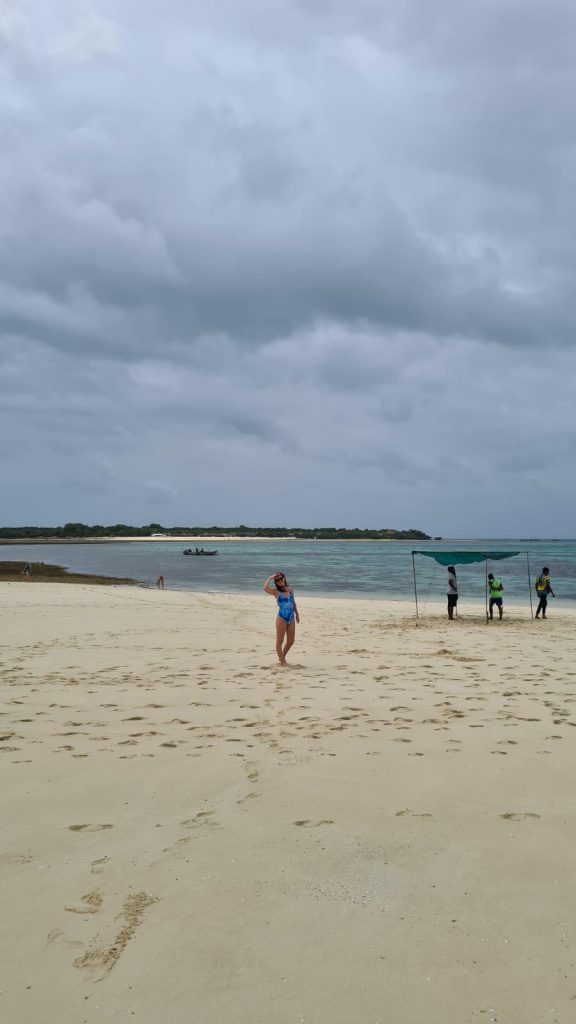 safari blue beach low tide