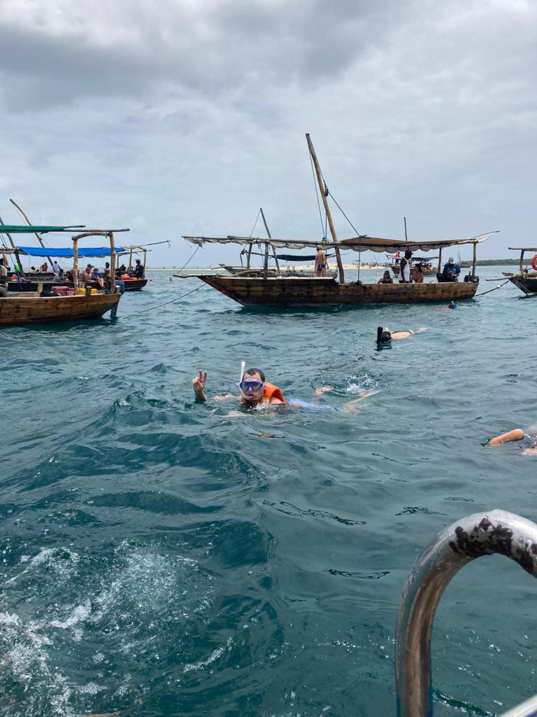 safari blue zanzibar snorkeling